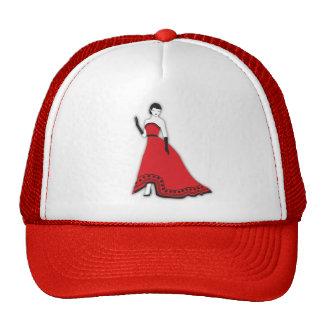 Classic Senorita in Red Mesh Hat