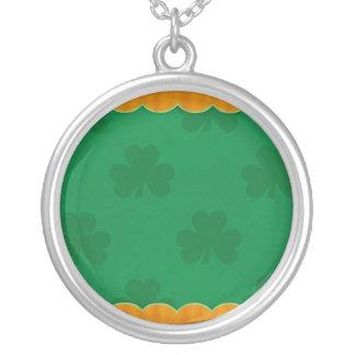 Classic Shamrock Round Pendant Necklace