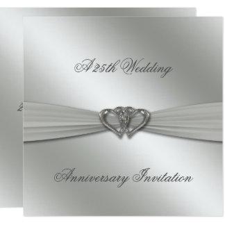 Classic Silver 25th Wedding Anniversary Invite