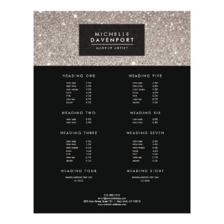 Classic Silver Glitter Makeup Artist Flyer