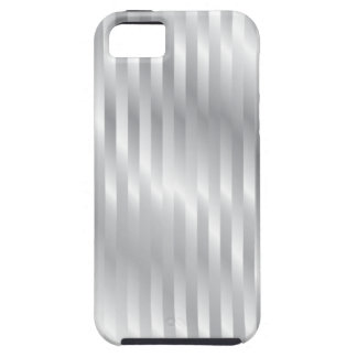 Classic Silver Stripes Metal Texture iPhone 5 Case