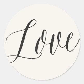 Classic Simple Script Modern Love Wedding Stickers