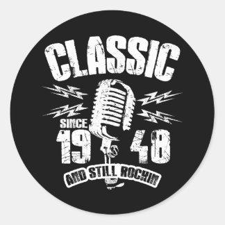 Classic Since 1948 And Still Rockin Classic Round Sticker