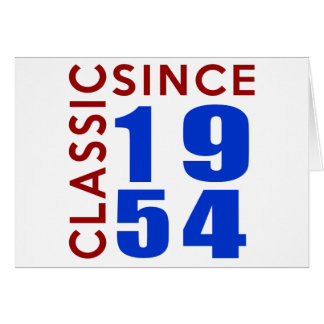 Classic Since 1954 Birthday Designs Card