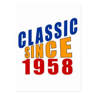 Classic Since 1958 Postcard