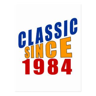 Classic Since 1984 Postcard