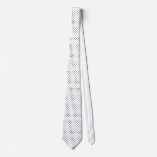 Classic Small Polka Dots Black on White Tie
