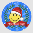 Classic Smiley Face Holiday Style Classic Round Sticker