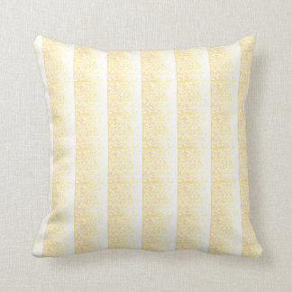 Classic soft yellow and white Square Pillow... Cushion