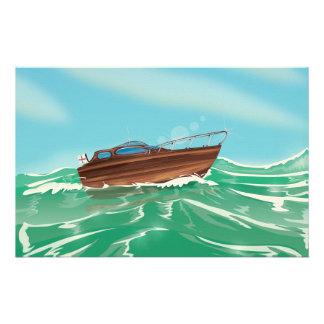 Classic Speedboat Customized Stationery