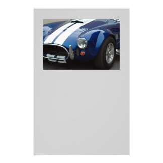 classic sports car personalized flyer