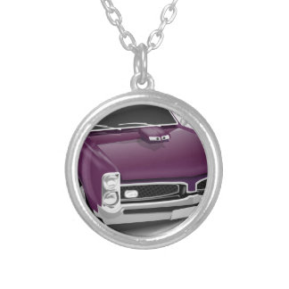 Classic Sports Car Silver Plated Necklace