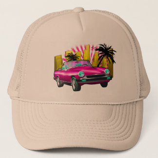 Classic sports car trucker hat