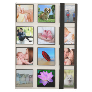 Classic Square Frame Photo Collage Cover For iPad Air