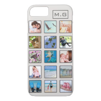 Classic Square Frame Photo Collage iPhone 8/7 Case