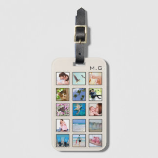 Classic Square Frame Photo Collage Luggage Tag