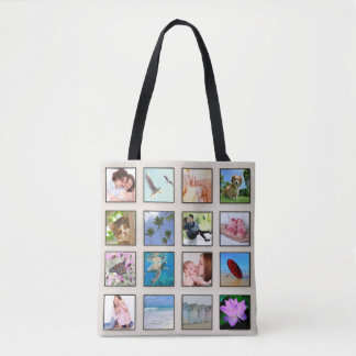 Classic Square Frame Photo Collage Tote Bag