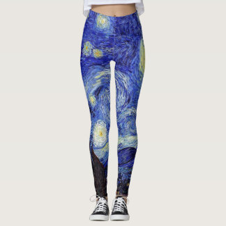 Classic Starry Night Van Gogh  Inspired Products Leggings