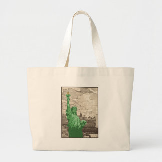 Classic Statue of Liberty Large Tote Bag