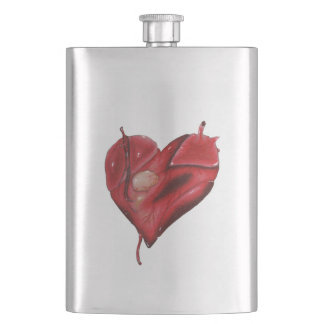 Classic Steel Flask with Graphic Heart