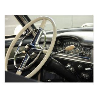 Classic Steering Wheel Postcard