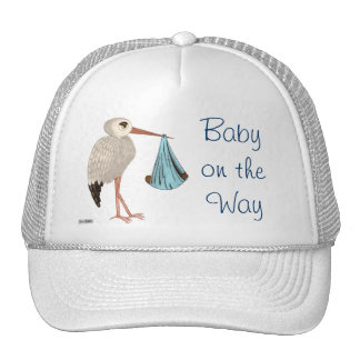 Classic Stork (Blue) 2 (Baby Shower) Cap