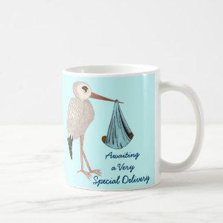 Classic Stork (Blue) 2 (Baby Shower) Mugs