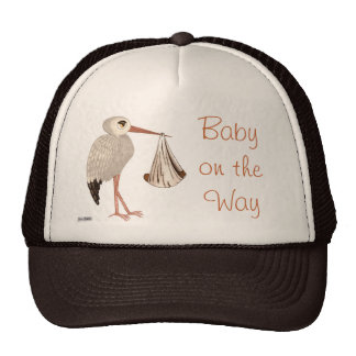 Classic Stork (Neutral) 2 (Baby Shower) Cap