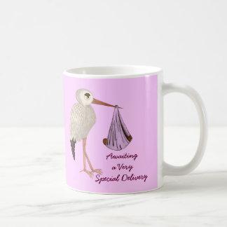 Classic Stork (Pink) 2 (Baby Shower) Coffee Mug