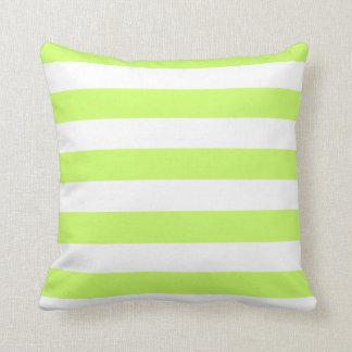 Classic Stripes, Lime, White American MoJo Pillows Throw Cushions