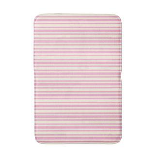 Classic-Stripes-Oxford-Pink-White-Rugs-SML Bath Mat