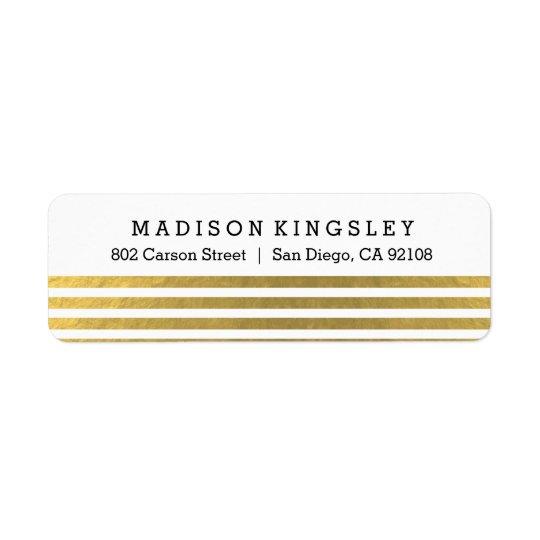 Classic Stripes Return Address Label