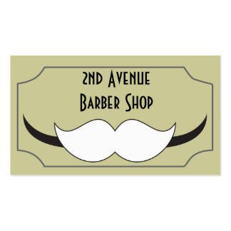 Classic style barber shop business card, pack of standard business cards