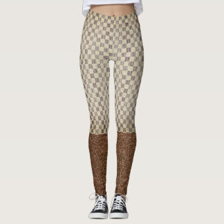 Classic style chequer pattern legging