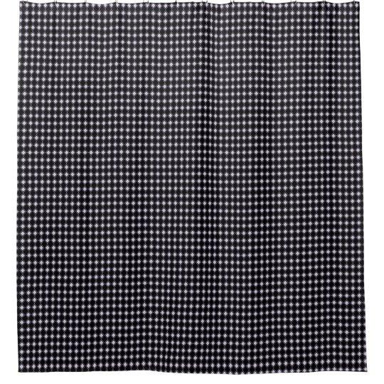 Classic-Style-Tiny-Diamonds_Black-Bath-Decor Shower Curtain