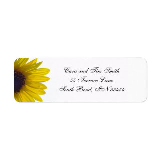Classic Sunflower Return Address Labels