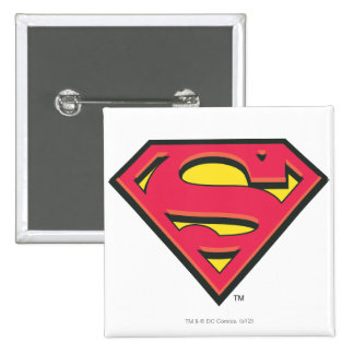 Classic Superman Logo 15 Cm Square Badge