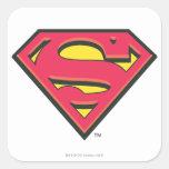 Classic Superman Logo Square Sticker