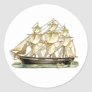 Classic Tall Ship Classic Round Sticker
