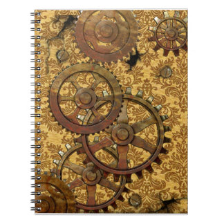 Classic Tan Steampunk Notebook