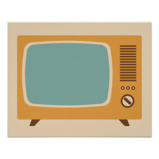 Classic Television Set Graphic Poster