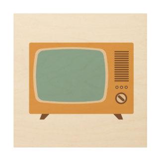Classic Television Set Graphic Wood Prints