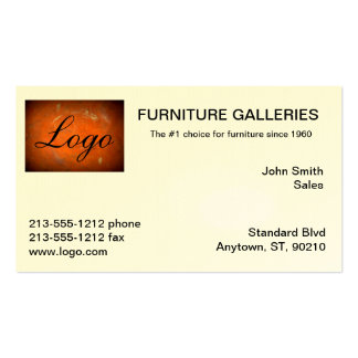 Classic Terracotta Logo Business Cards
