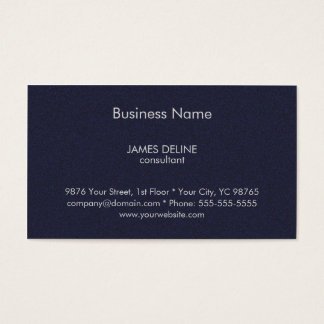 Classic Textured Blue Financial Consultant Business Card