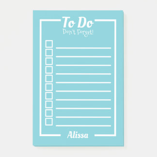 Classic To Do List Tick Boxes with Name Post-it Notes