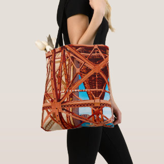 Classic tote with vintage Golden Gate Bridge print