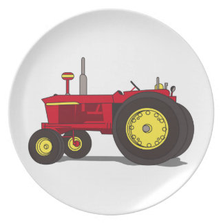 Classic tractor party plates