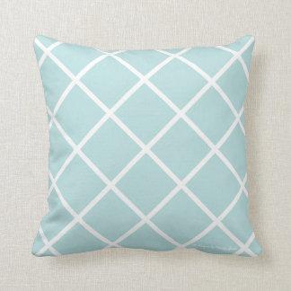 Classic Trellis Pillow in Caribbean/White