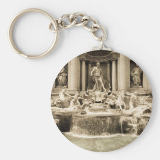 Classic Trevi Fountain, Rome Basic Round Button Key Ring