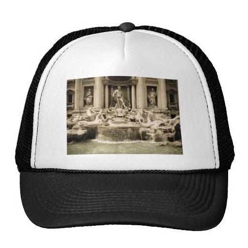 Classic Trevi Fountain, Rome Mesh Hats